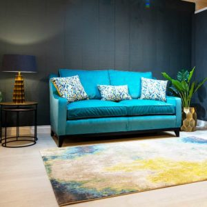 Ritz sofa in teal colour