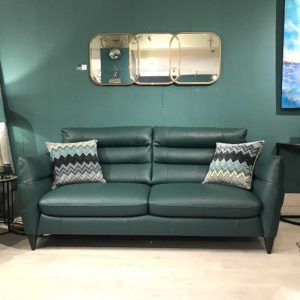 Firenze leather sofa with two cushions
