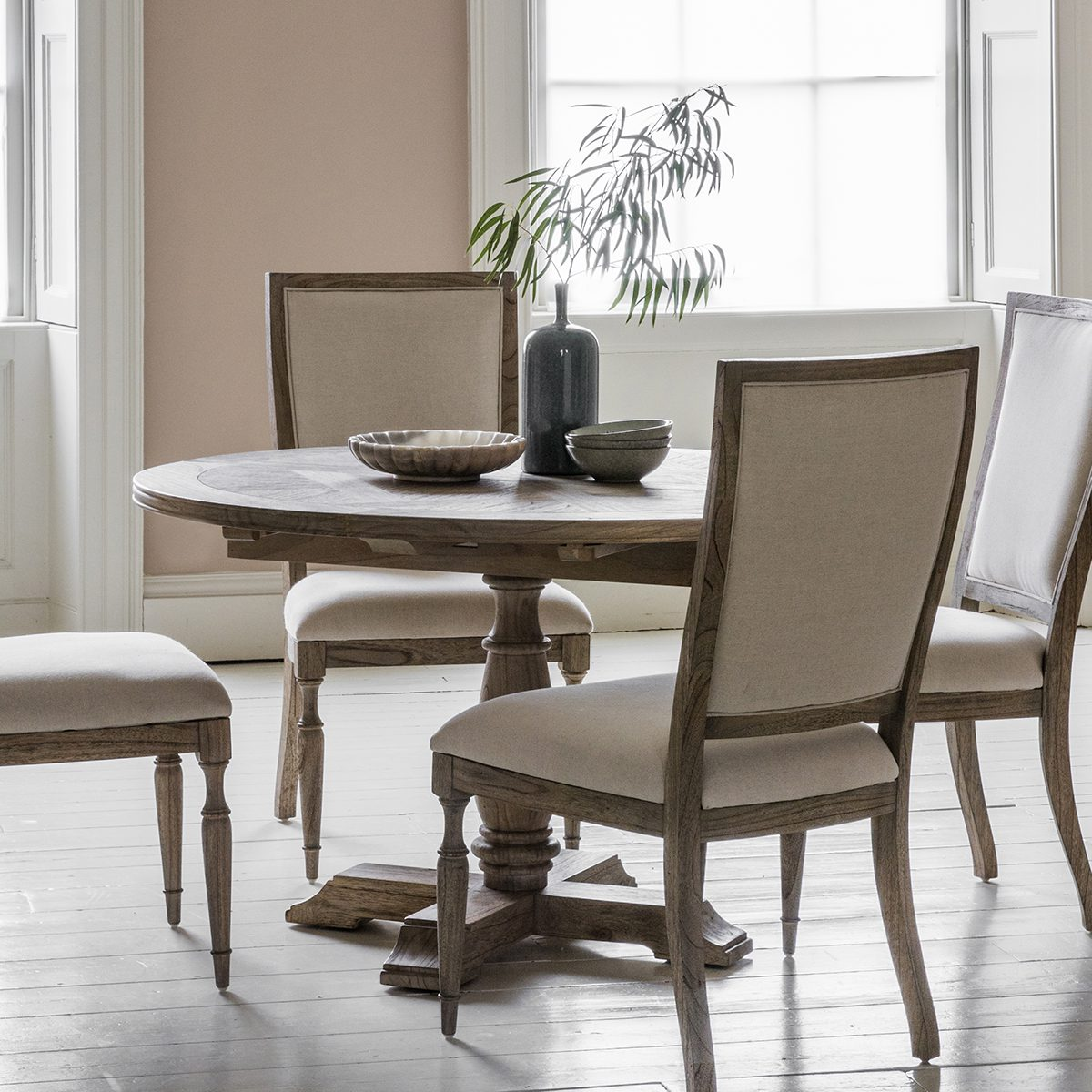 Antibes Round Extending Dining Table New England Home Interiors