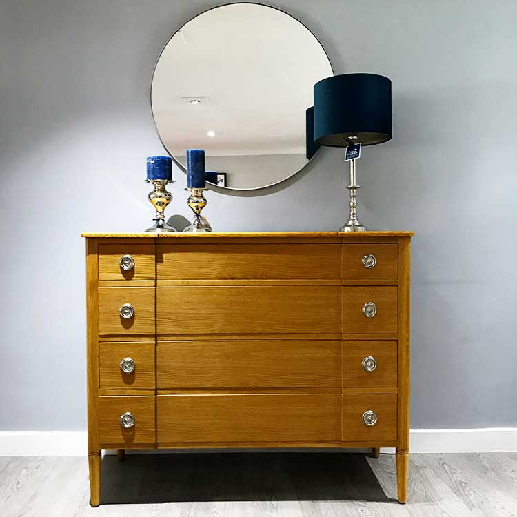 Bespoke oak chest of drawers by New England Home Interiors
