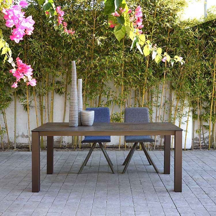 Designer Millie stone effect ceramic 6 seat dining table