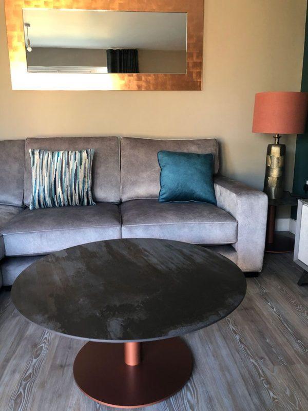 Round Dekton Trilium Coffee Table