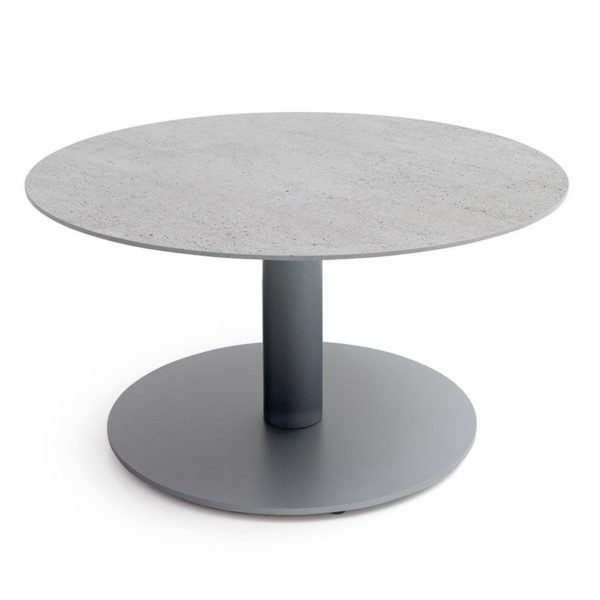 Round Dekton Coffee Table Cut Out