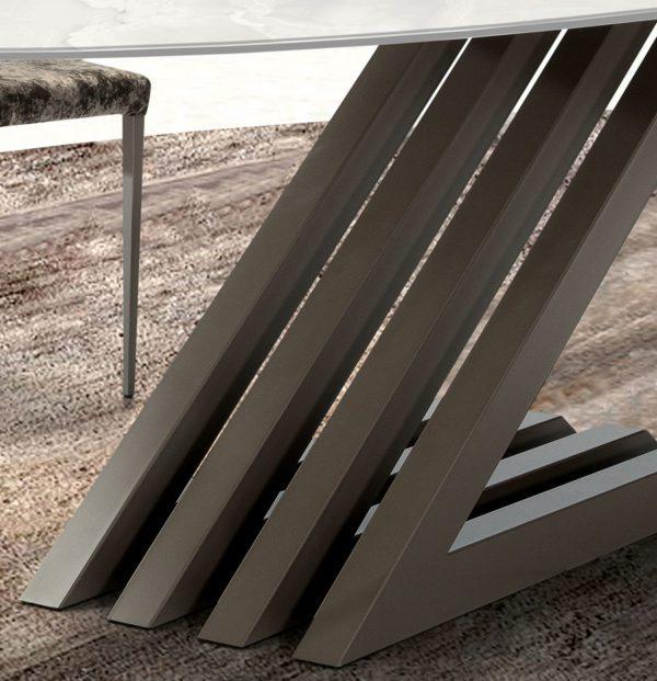 Zara Oval Dekton Table stand