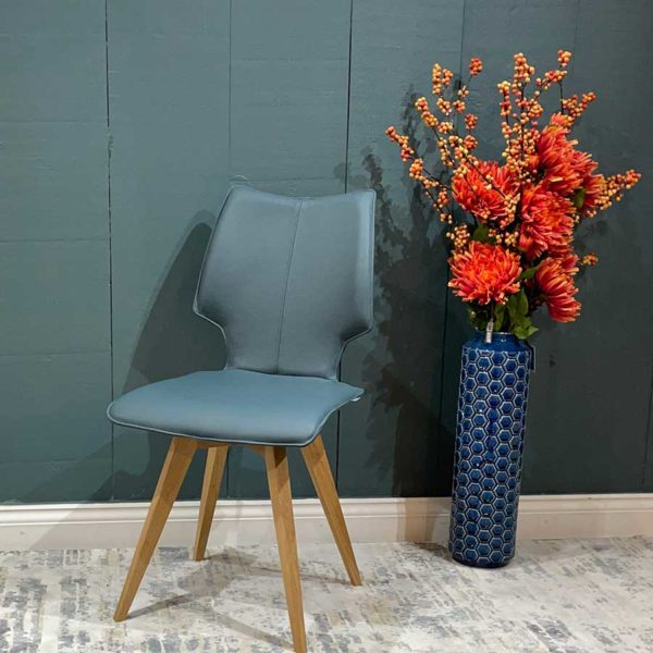 Clip Leather Dining Chair