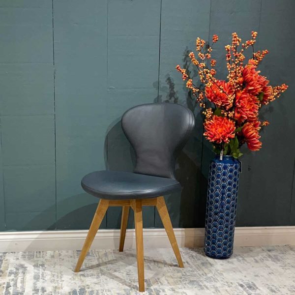 Moon Leather Dining Chair
