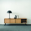 Rome Solid Wood TV Unit with Bracket Metal Legs