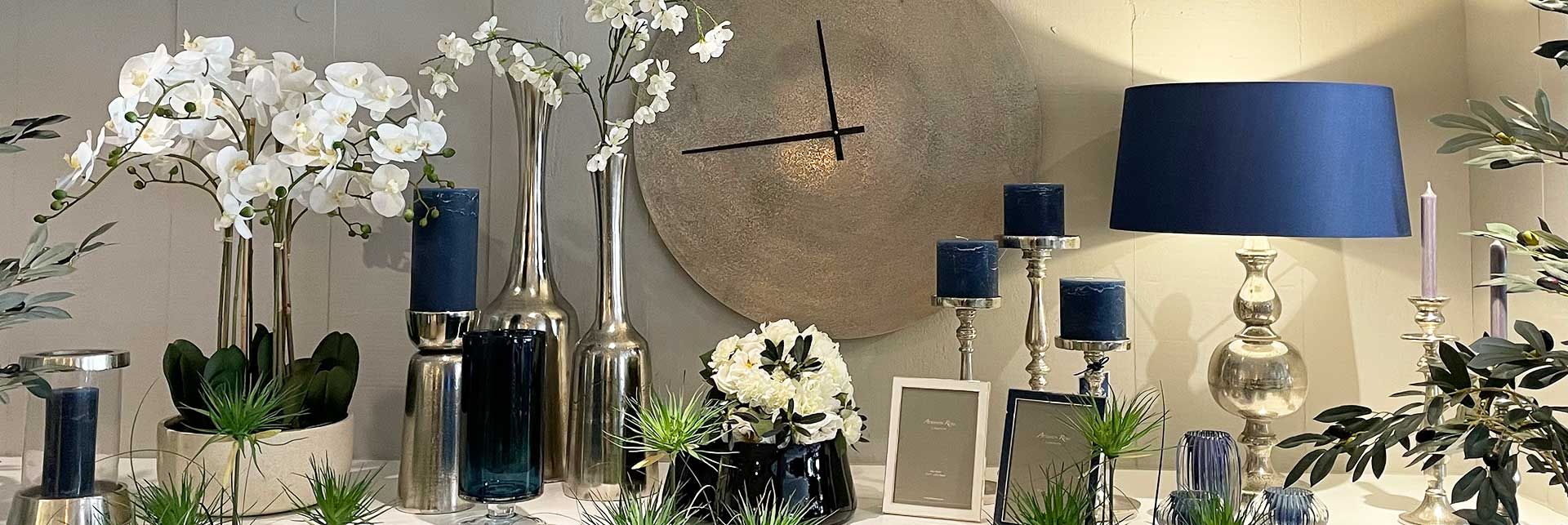 A selection of home interior finish touches on display at New England Home Interiors