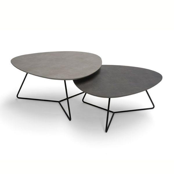 Boston pair of design low ceramic coffee tables