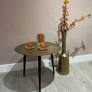 Bark Raw Bronzed Side Table